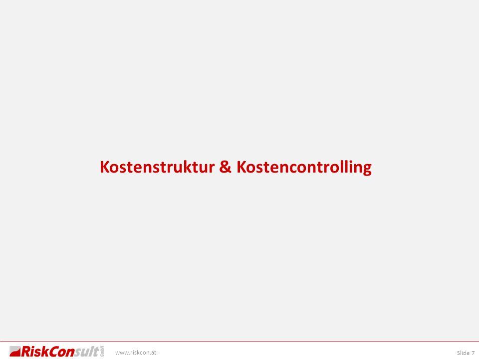 Kostenstruktur & Kostencontrolling