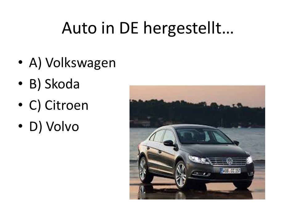 Auto in DE hergestellt…