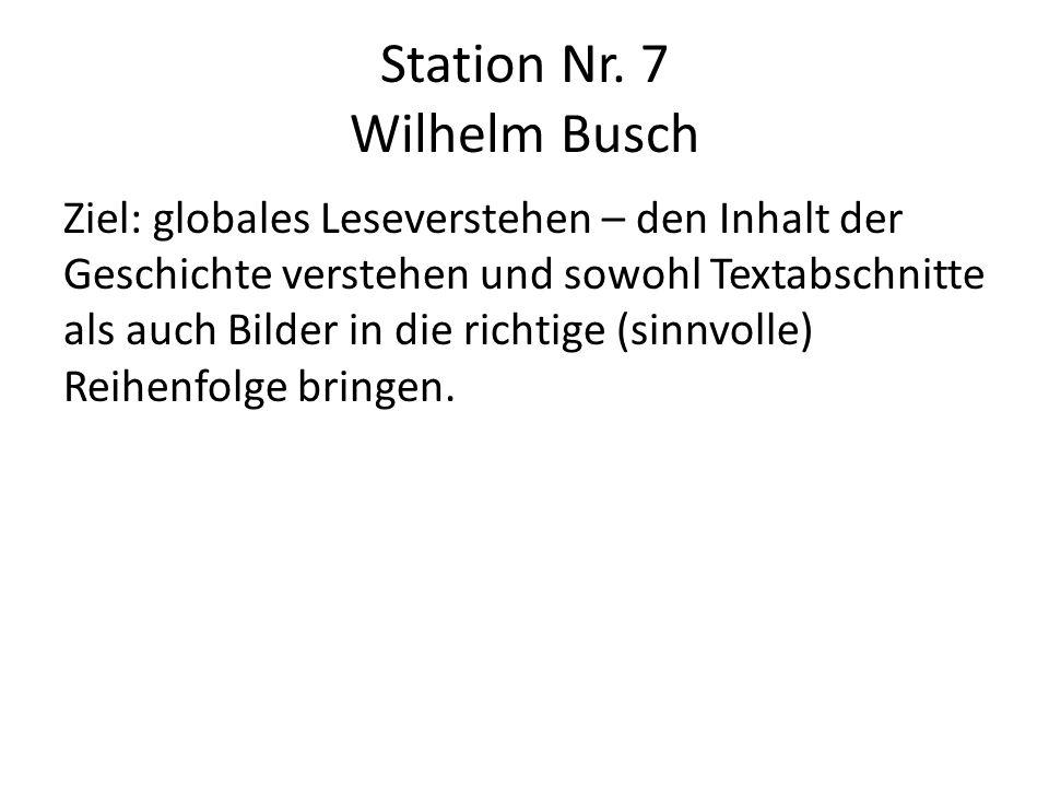 Station Nr. 7 Wilhelm Busch