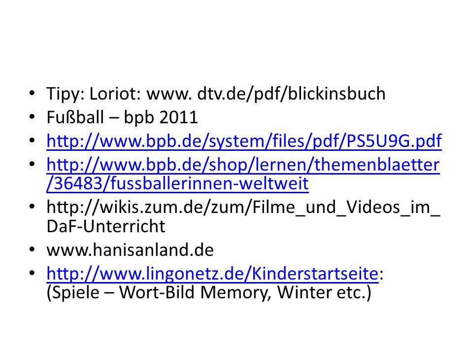 Tipy: Loriot: www. dtv.de/pdf/blickinsbuch