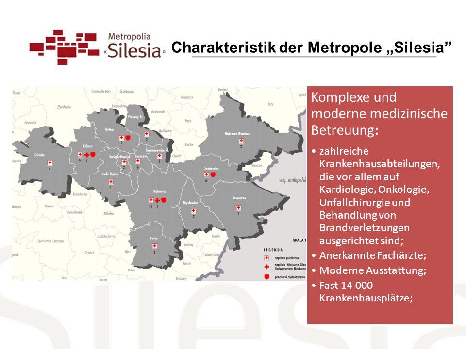 "Charakteristik der Metropole ""Silesia"