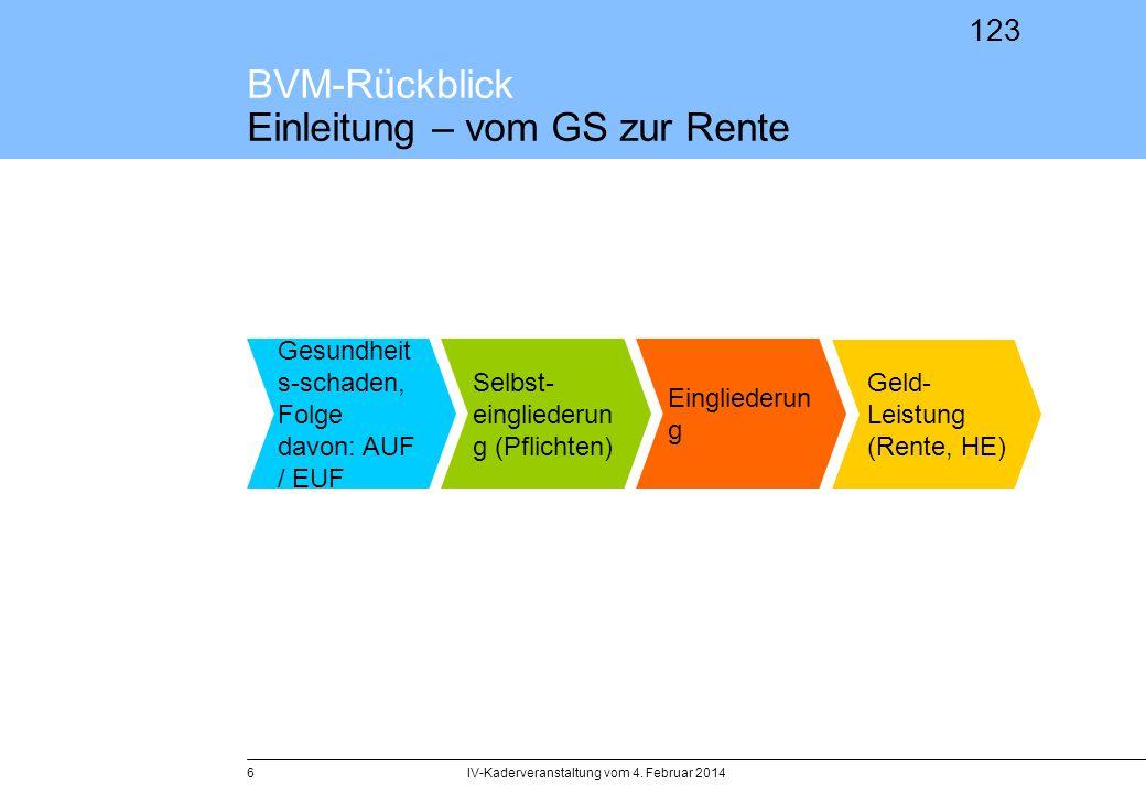 BVM-Rückblick Einleitung – vom GS zur Rente