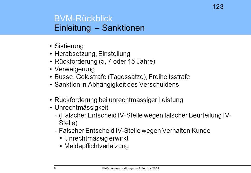 BVM-Rückblick Einleitung – Sanktionen