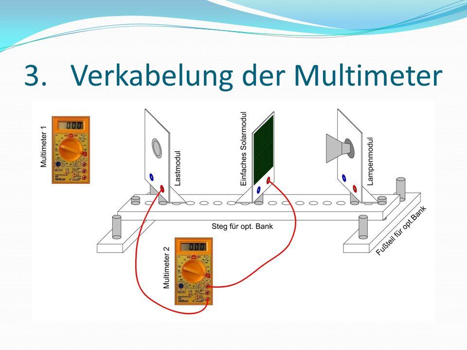 3. Verkabelung der Multimeter