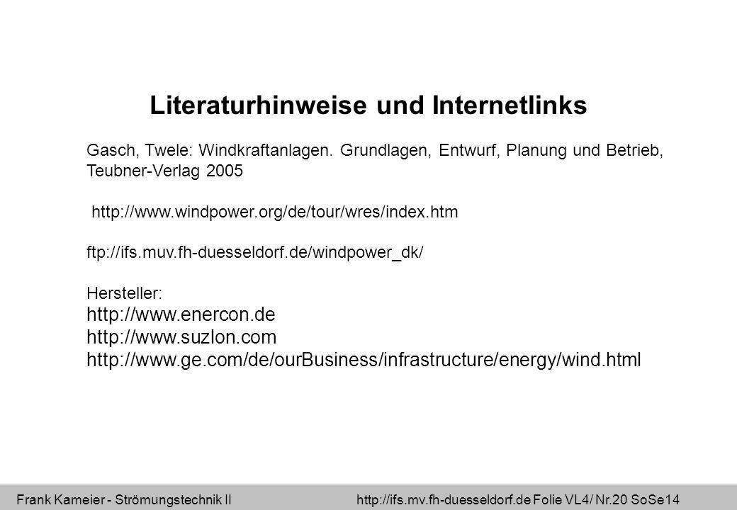 Literaturhinweise und Internetlinks