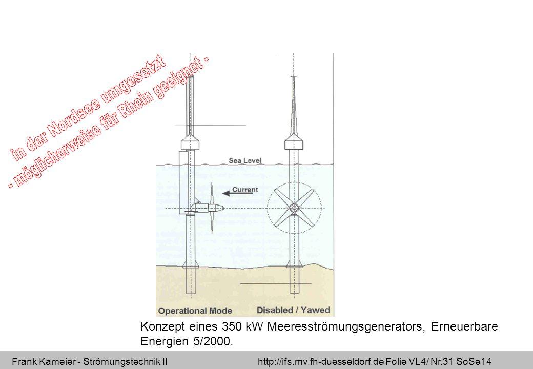 in der Nordsee umgesetzt - möglicherweise für Rhein geeignet -