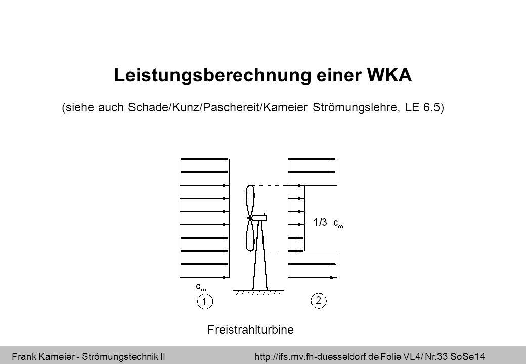 Leistungsberechnung einer WKA