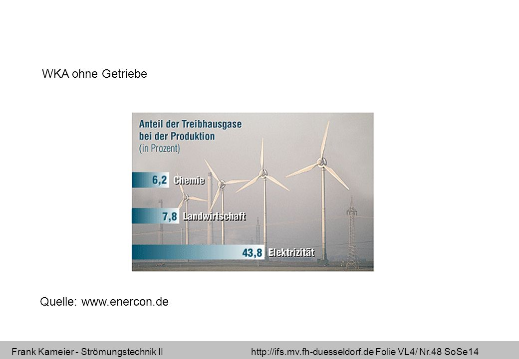 WKA ohne Getriebe Quelle: www.enercon.de