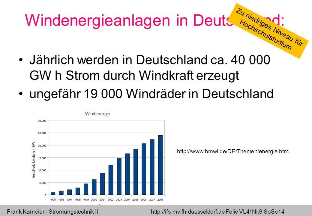Windenergieanlagen in Deutschland: