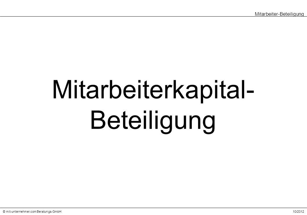 Mitarbeiterkapital- Beteiligung