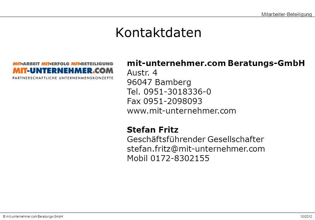 Kontaktdaten mit-unternehmer.com Beratungs-GmbH Austr. 4 96047 Bamberg