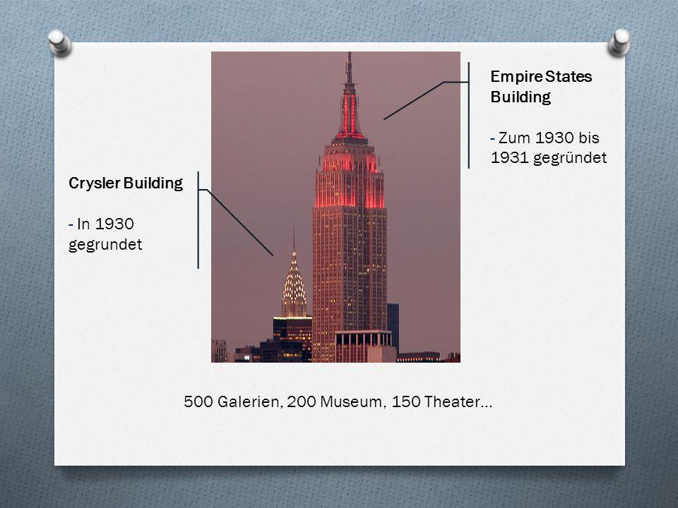 500 Galerien, 200 Museum, 150 Theater…