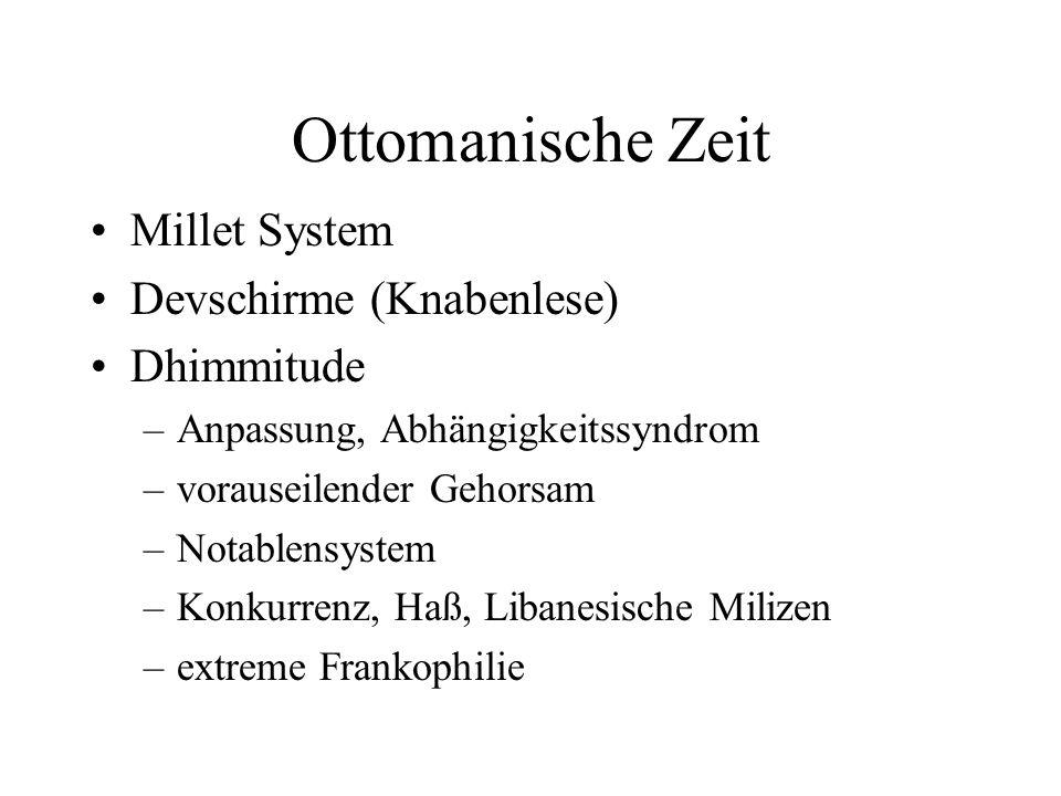 Ottomanische Zeit Millet System Devschirme (Knabenlese) Dhimmitude