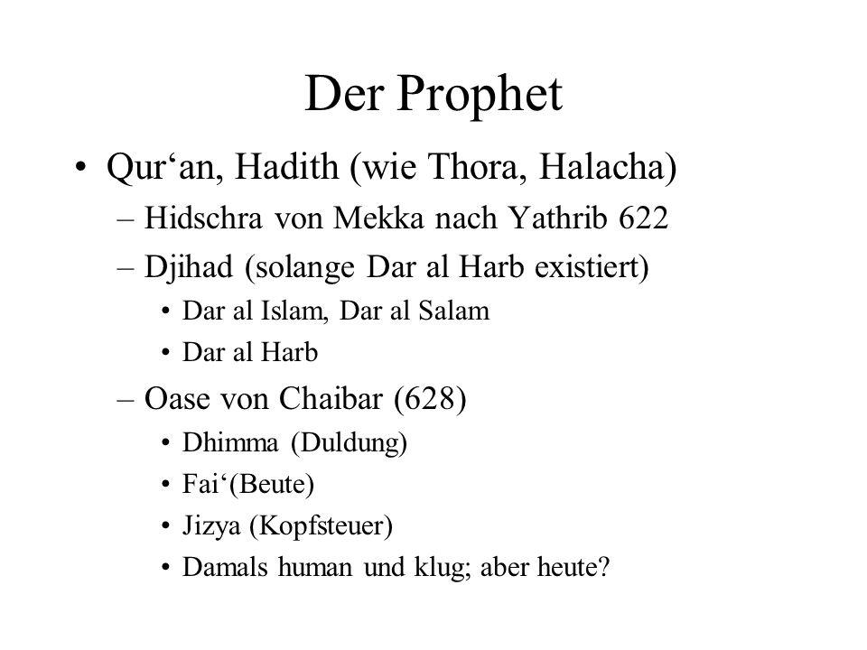 Der Prophet Qur'an, Hadith (wie Thora, Halacha)