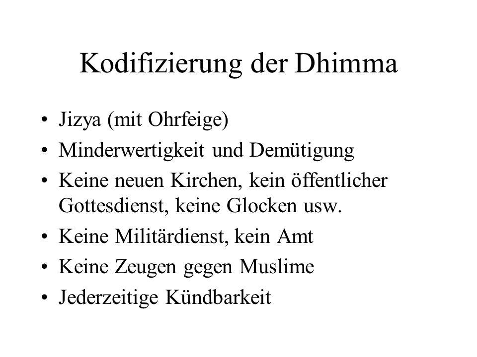 Kodifizierung der Dhimma
