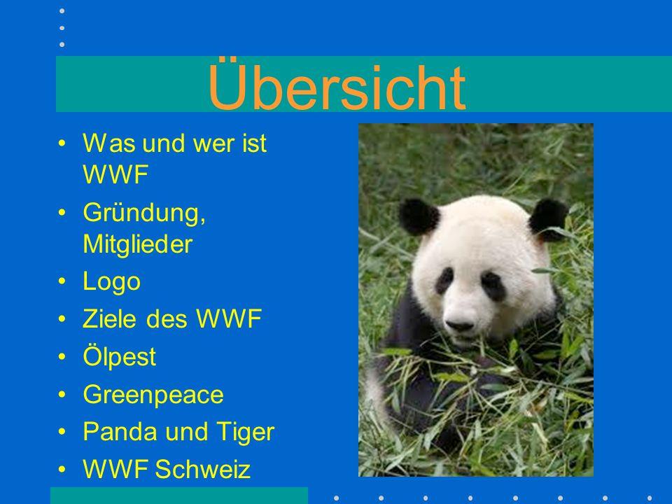 Übersicht Was und wer ist WWF Gründung, Mitglieder Logo Ziele des WWF