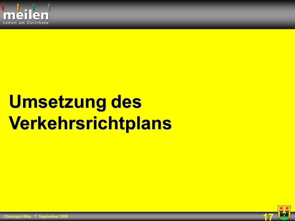 Umsetzung des Verkehrsrichtplans