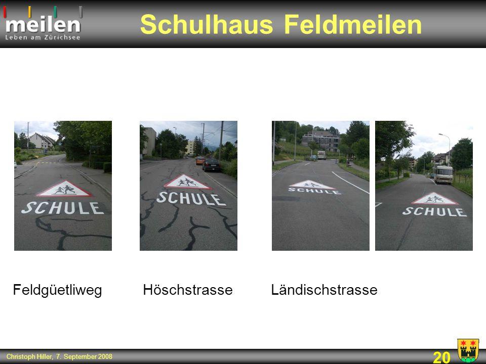Schulhaus Feldmeilen Feldgüetliweg Höschstrasse Ländischstrasse 20