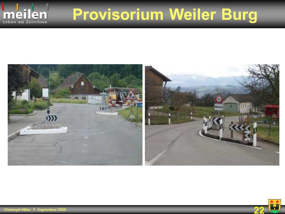 Provisorium Weiler Burg