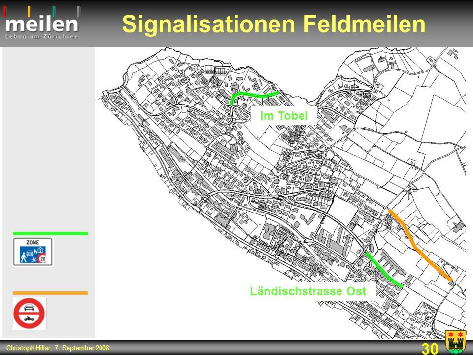 Signalisationen Feldmeilen
