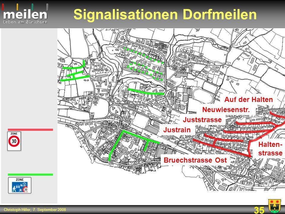 Signalisationen Dorfmeilen