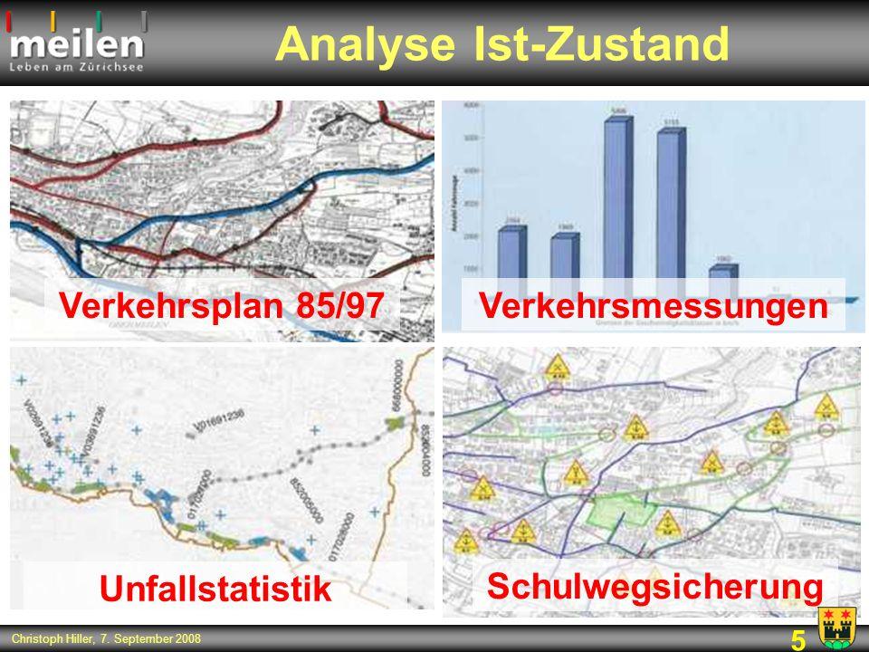 Analyse Ist-Zustand Verkehrsplan 85/97 Verkehrsmessungen
