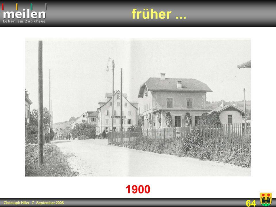 früher ... 1900