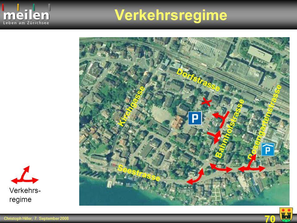 Verkehrsregime X Dorfstrasse Kirchgasse Rosengartenstrasse