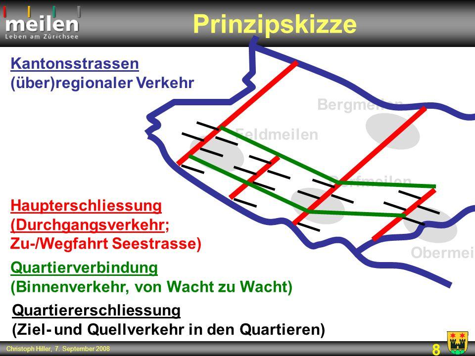 Prinzipskizze Kantonsstrassen (über)regionaler Verkehr Bergmeilen