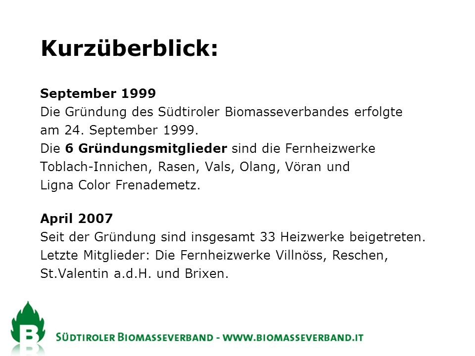 Kurzüberblick: September 1999