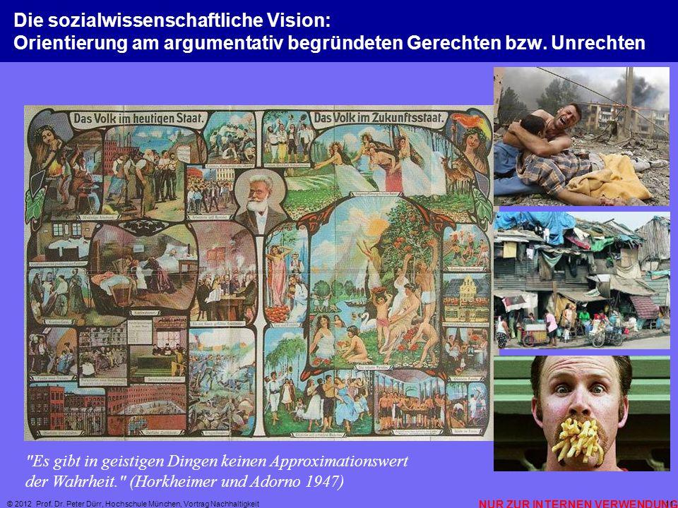 Die sozialwissenschaftliche Vision: Orientierung am argumentativ begründeten Gerechten bzw. Unrechten