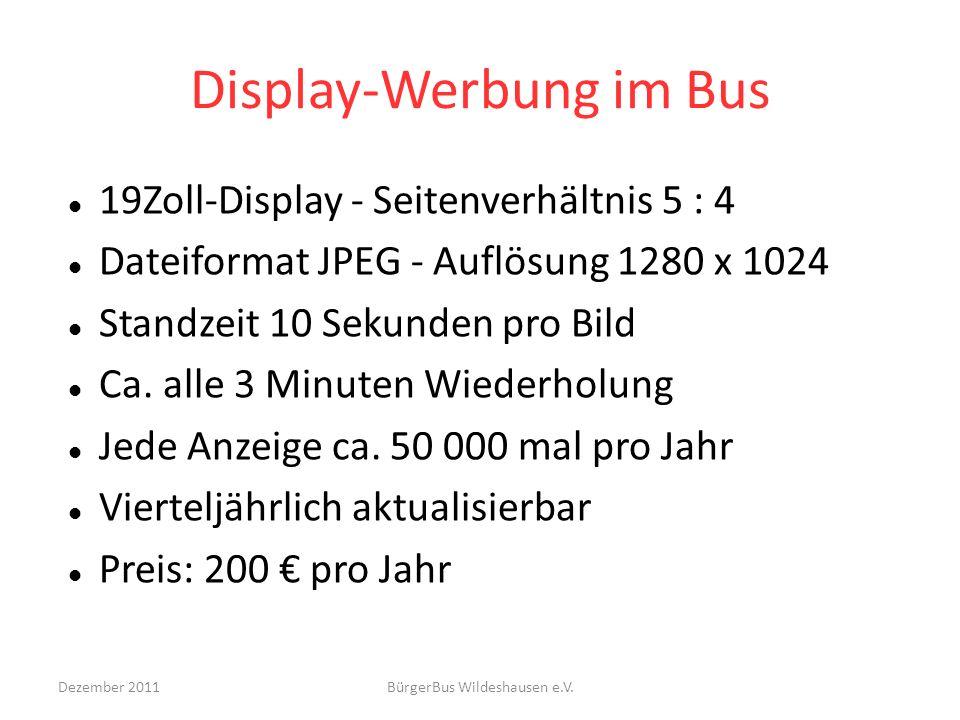 Display-Werbung im Bus
