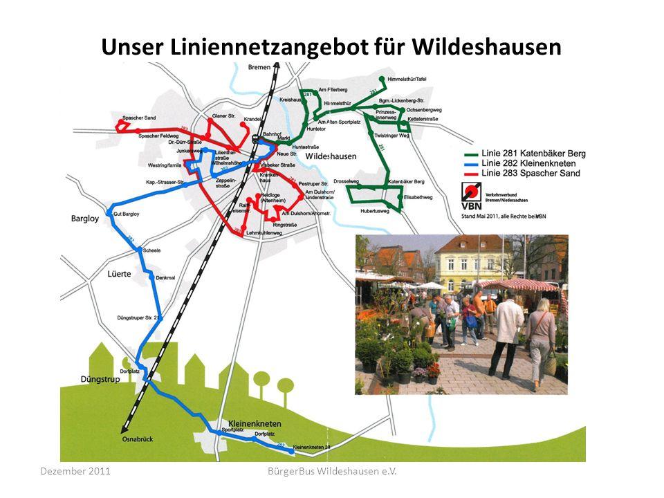 Unser Liniennetzangebot für Wildeshausen