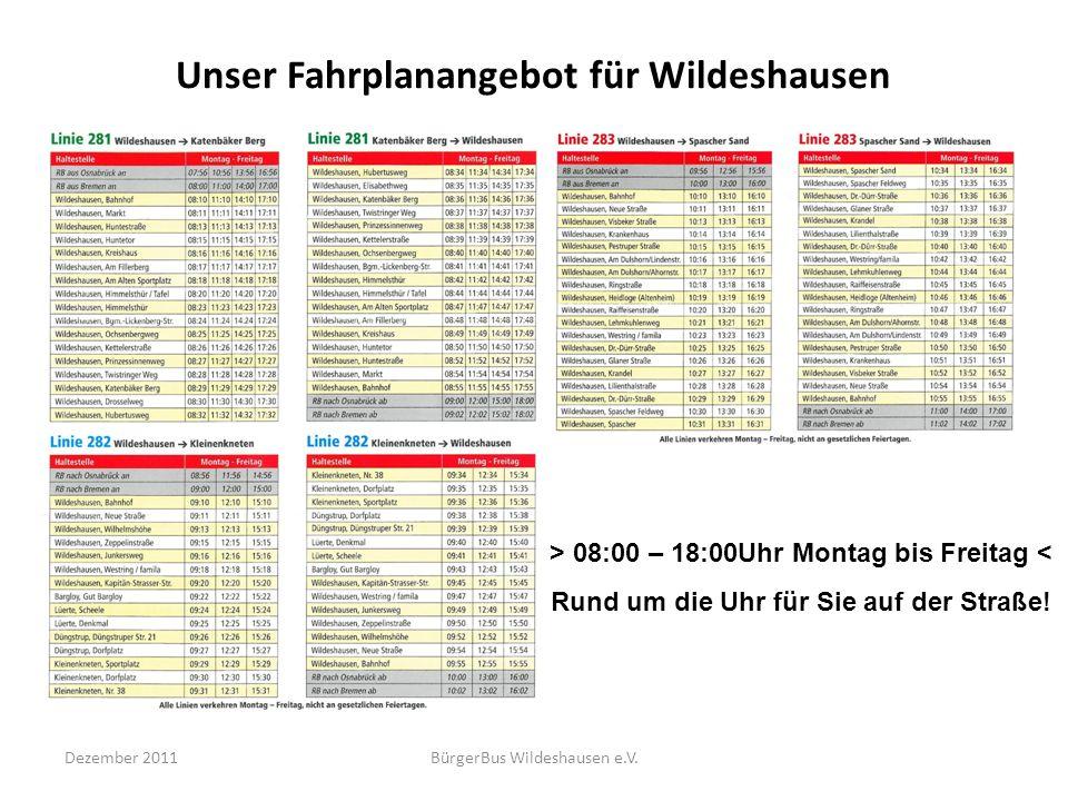 Unser Fahrplanangebot für Wildeshausen