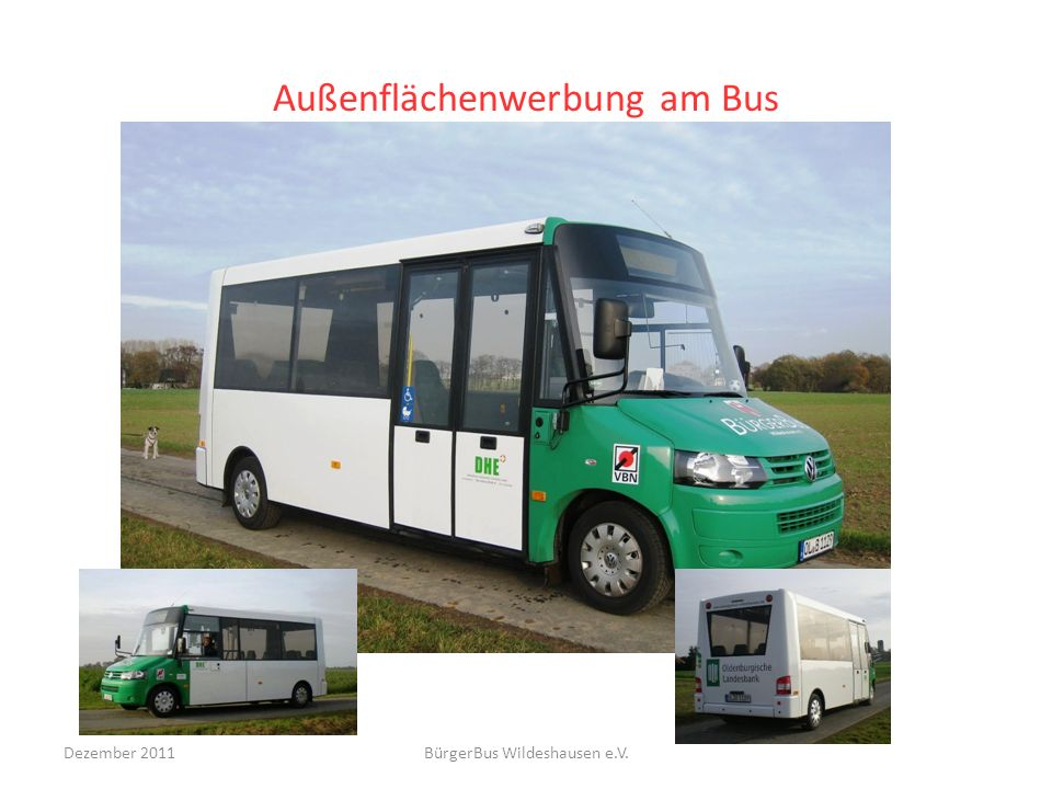 Außenflächenwerbung am Bus