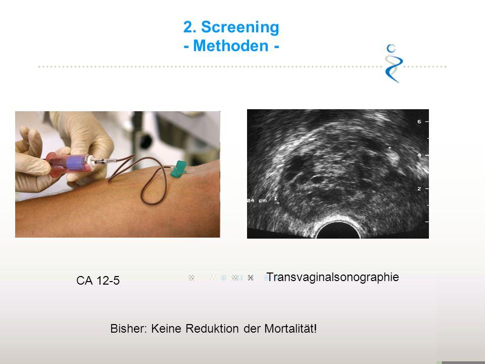 2. Screening - Methoden - Transvaginalsonographie CA 12-5
