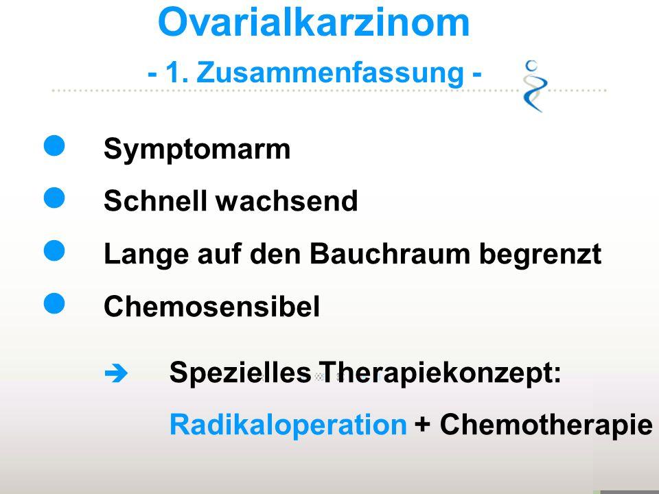 Ovarialkarzinom - 1. Zusammenfassung - Symptomarm Schnell wachsend