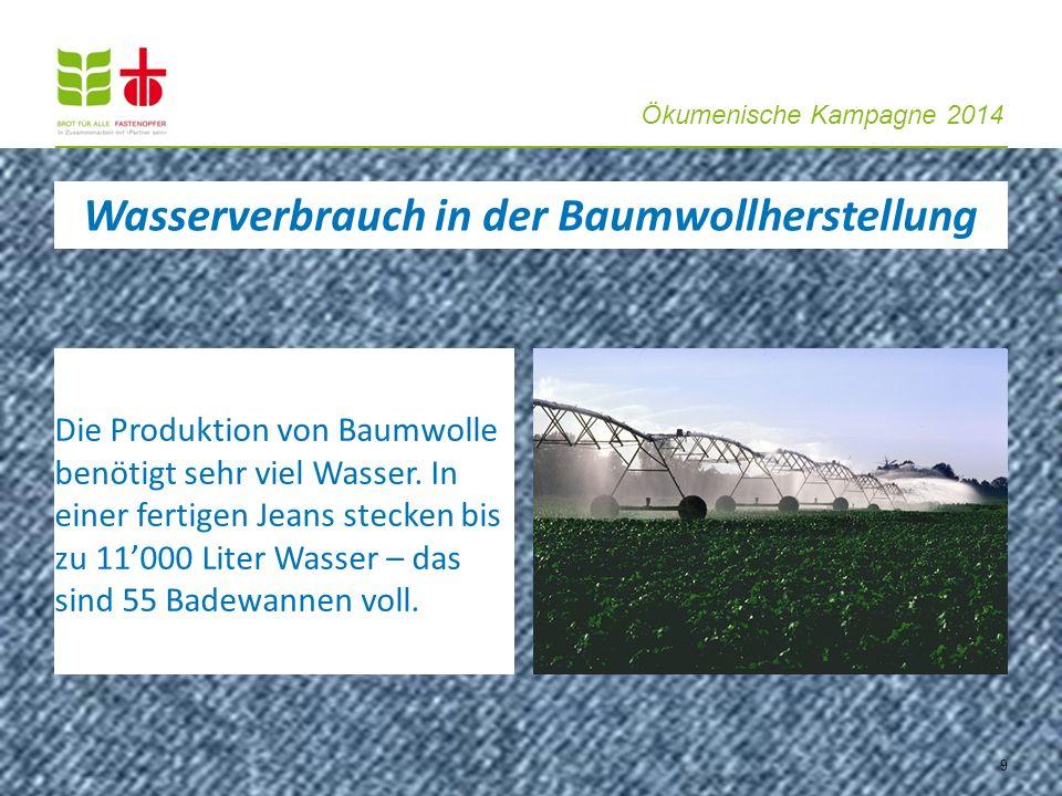 Wasserverbrauch in der Baumwollherstellung