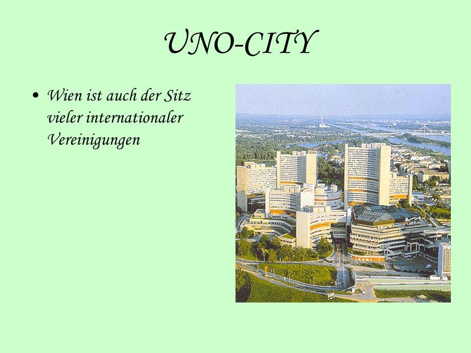 UNO-CITY Wien ist auch der Sitz vieler internationaler Vereinigungen