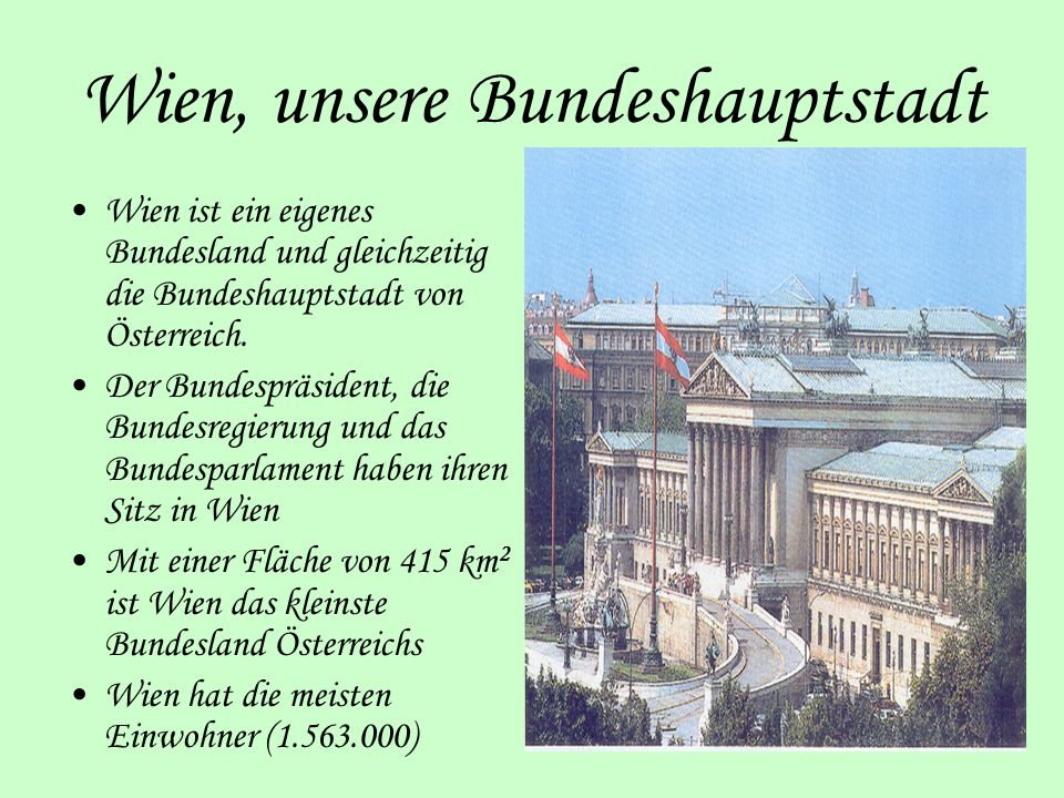 Wien, unsere Bundeshauptstadt