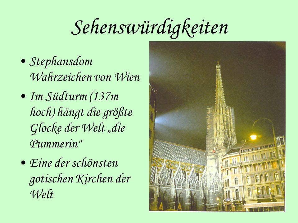 Sehenswürdigkeiten Stephansdom Wahrzeichen von Wien
