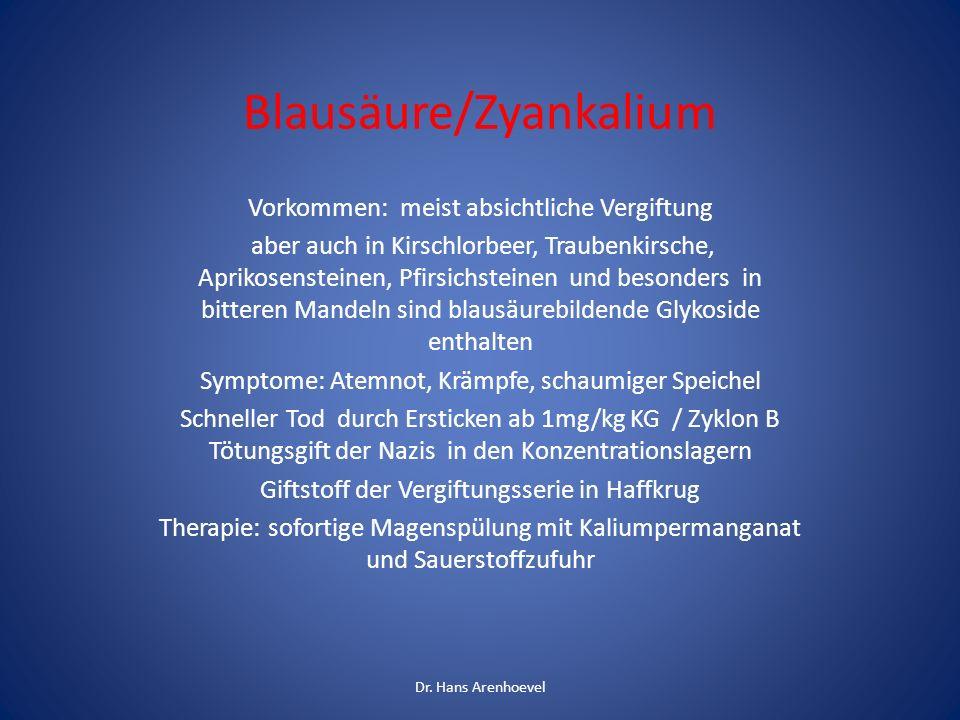 Blausäure/Zyankalium