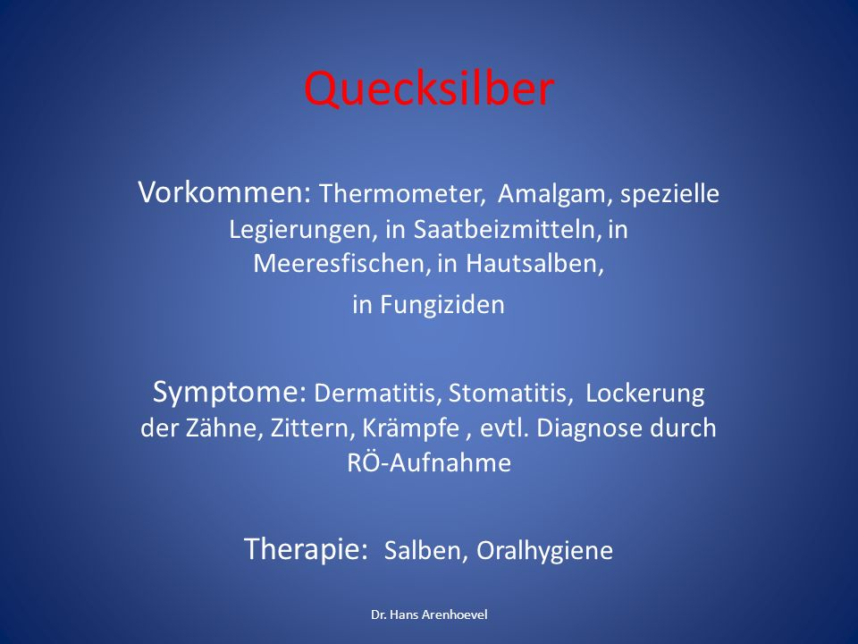 Therapie: Salben, Oralhygiene