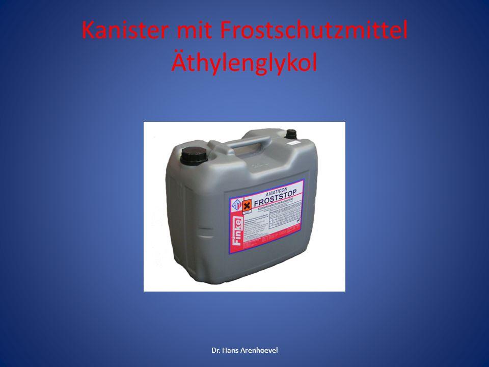 Kanister mit Frostschutzmittel Äthylenglykol