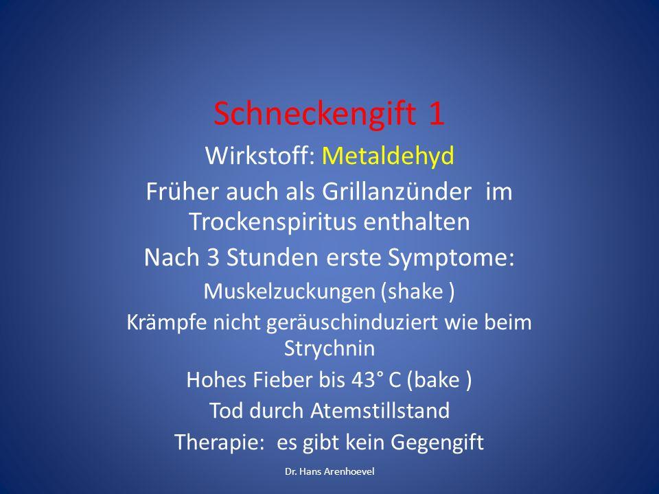 Schneckengift 1 Wirkstoff: Metaldehyd