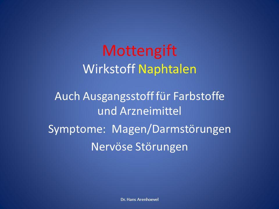 Mottengift Wirkstoff Naphtalen