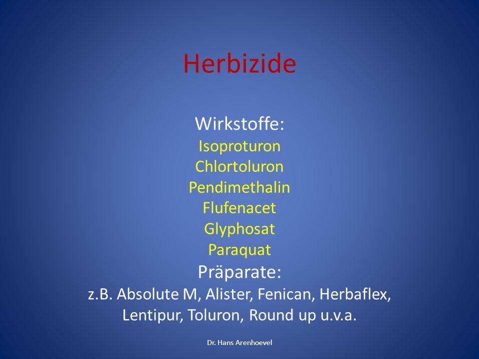 Herbizide Wirkstoffe: Präparate: Isoproturon Chlortoluron