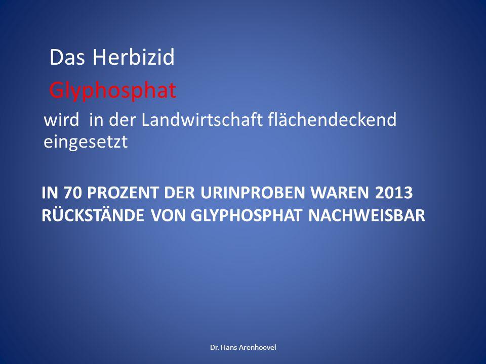 Das Herbizid Glyphosphat