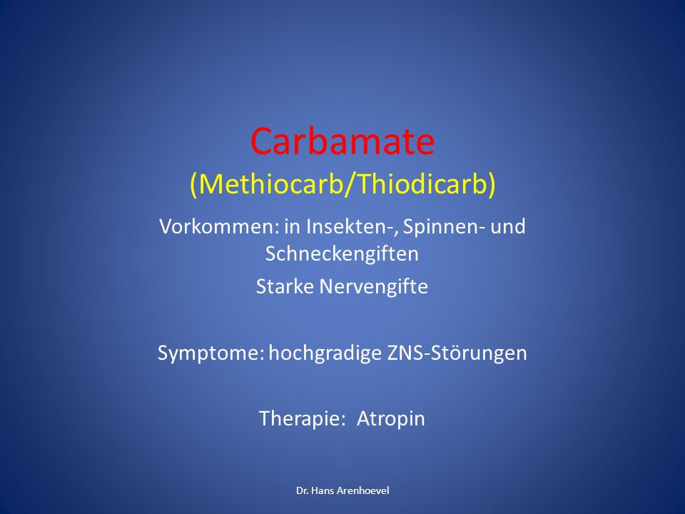 Carbamate (Methiocarb/Thiodicarb)