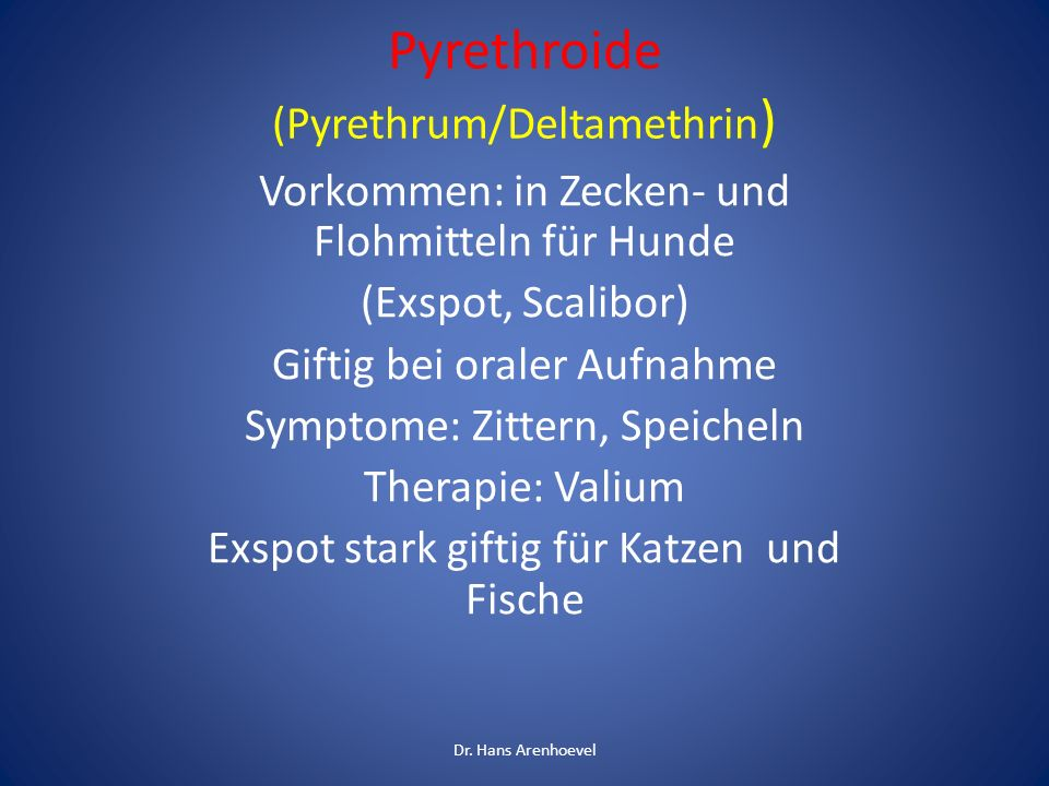 Pyrethroide (Pyrethrum/Deltamethrin)